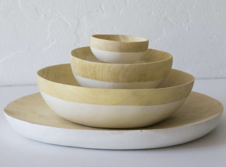 honore natural and white dinner plates wood remodelista