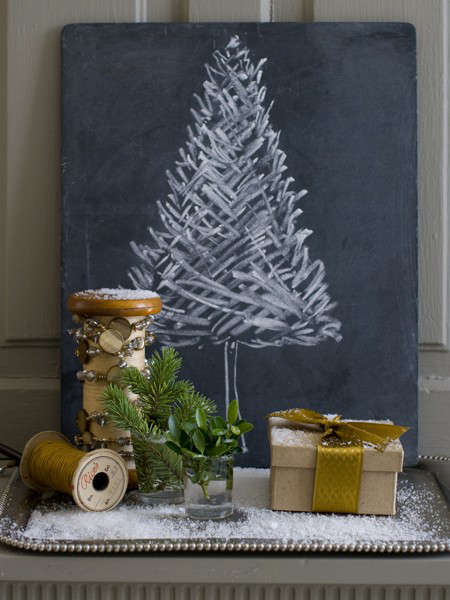 house home matthew mead holiday chalkboard tree