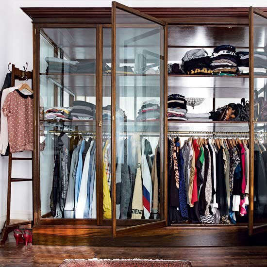 house to home glass wardrobe