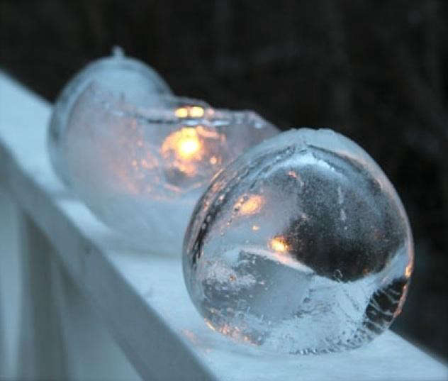 ice candle snow outdoors