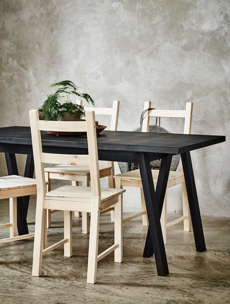 ikea black stained table remodelista