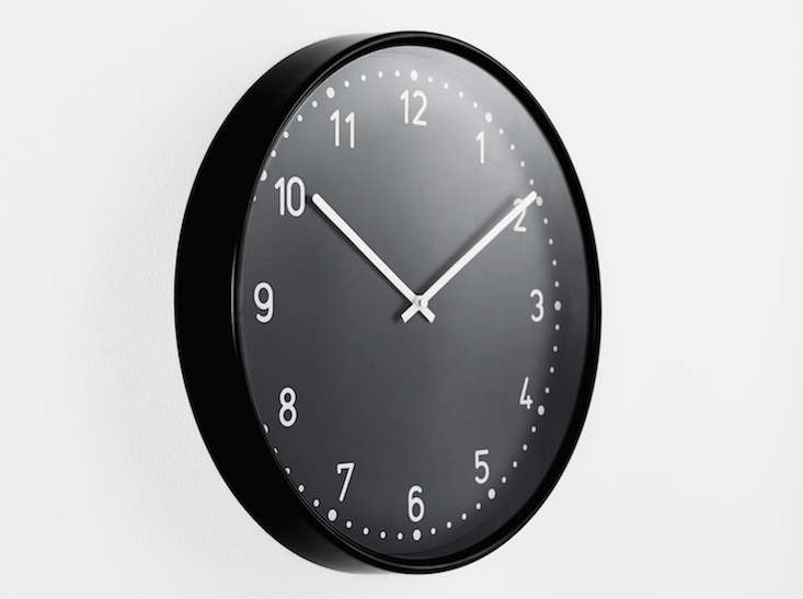 ikea bondis wall clock black remodelista