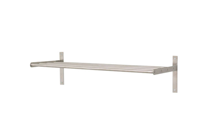 ikea grundtal towel hanger shelf remodelista