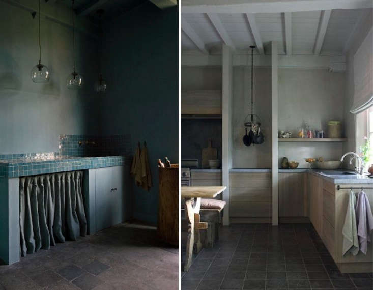 Karin Draaijer in Belgium is one of our favorite under-the-radar interior designers, with a command of moody Belgian hues.