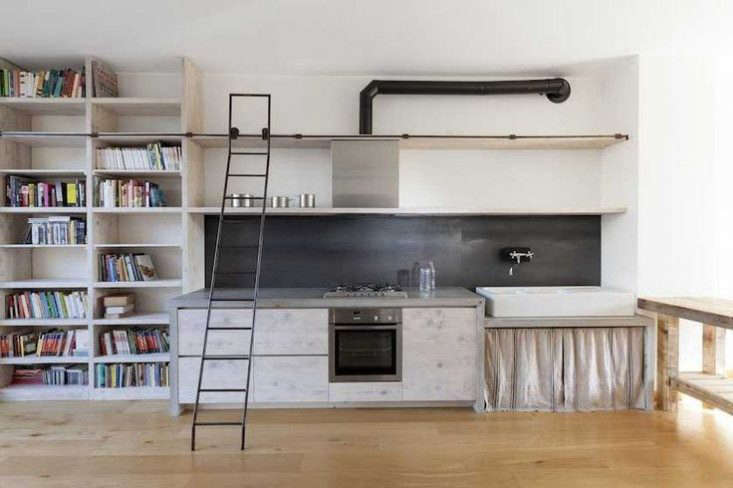 A black backsplash by designer Katrin Arens. See Kitchen of the Week: The New Italian Country Kitchen by Katrin Arens, Scrap Wood Edition for another kitchen with a black backsplash by the designer.