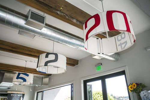 atwestward, a waterfront restaurantin seattle, custom light fixtures have s 21