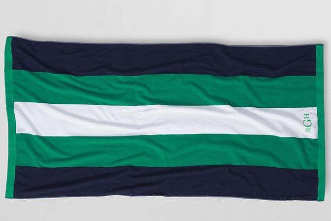 lands end rugby towel