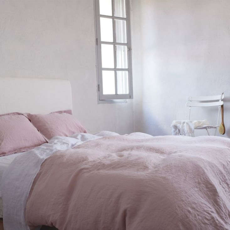 linen works pink sheet
