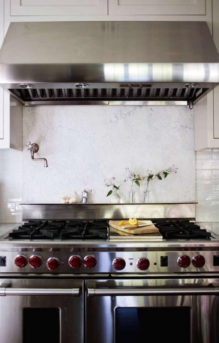Michelle specced a Wolf range in her Mill Valley kitchen redo.Photograph by Liesa Johannssen for Remodelista.