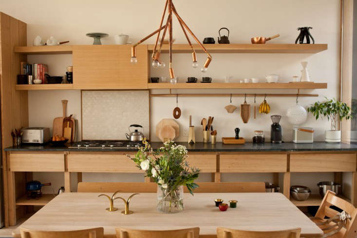 John Baker and Juli Daoust, the owners of Mjölk in Toronto, store their utensils in plain sight;see more atSteal This Look: A Scandi-Meets-Japanese Kitchen.