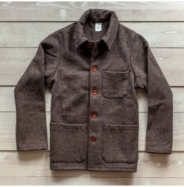 natural French work jacket guideboat