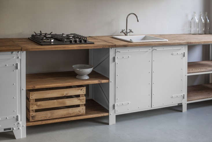A modular kitchen from a Berlin company; see more at The New Old-World Kitchen from Noodles, Noodles & Noodles Corp.