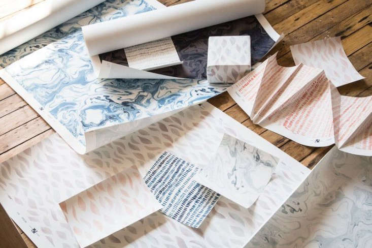 Handmade Wallpaper in Painterly Prints from Rebecca Atwood in Brooklyn portrait 3