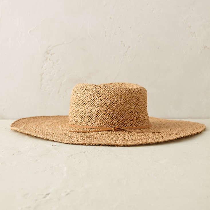 raffia sun hat wide brim gardenista