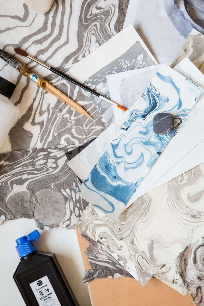 Handmade Wallpaper in Painterly Prints from Rebecca Atwood in Brooklyn portrait 7