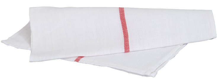 Utopia Center Stripe Dish Towels are 0 percent cotton and work well as napkins; $9.99 for loading=