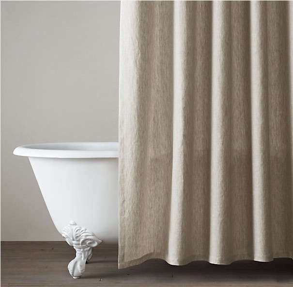 restoration hardware belgian linen shower curtain Remodelista