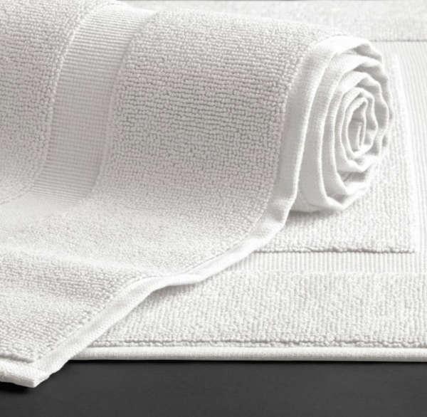 restoration hardware white turkish bath mat remodelista