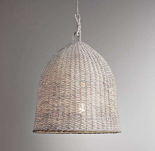 HighLow A Trio of Woven Wicker Pendant Lights portrait 5