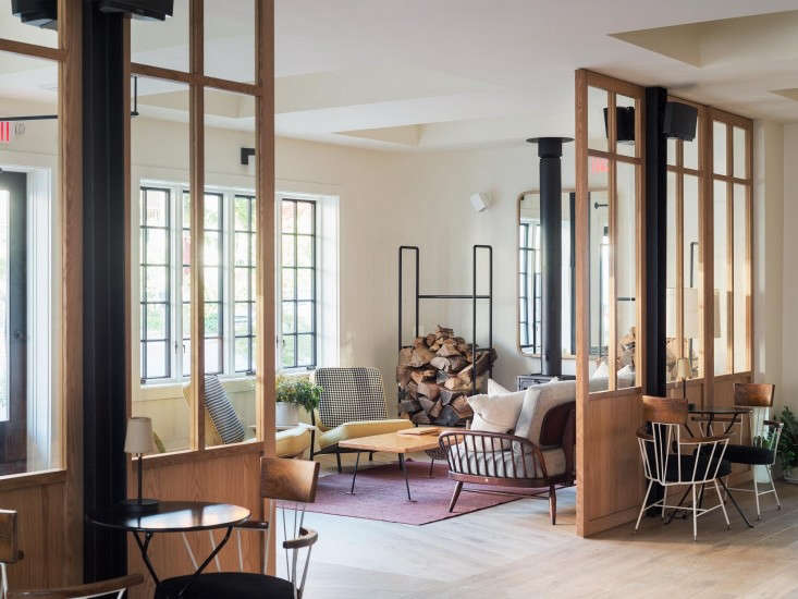 The matte floor trend in Rivertown Lodge. SeeA Hotel with a Sense of Place: Rivertown Lodge in Hudson, NY.