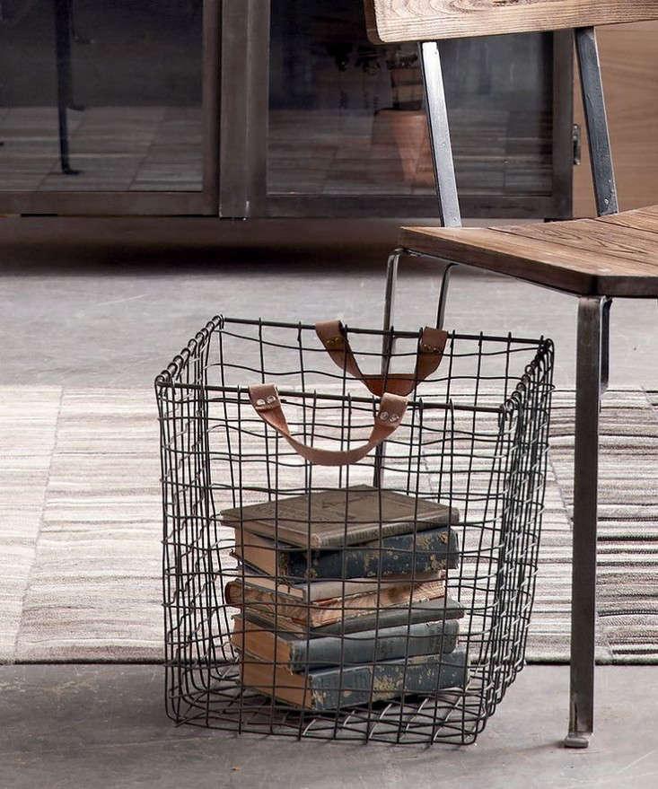 roost leather handled basket