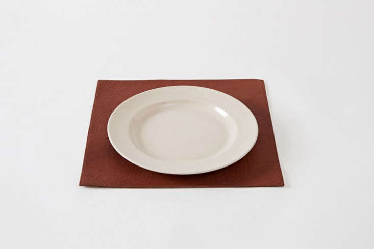 rth saddle leather placemat remodelista 1