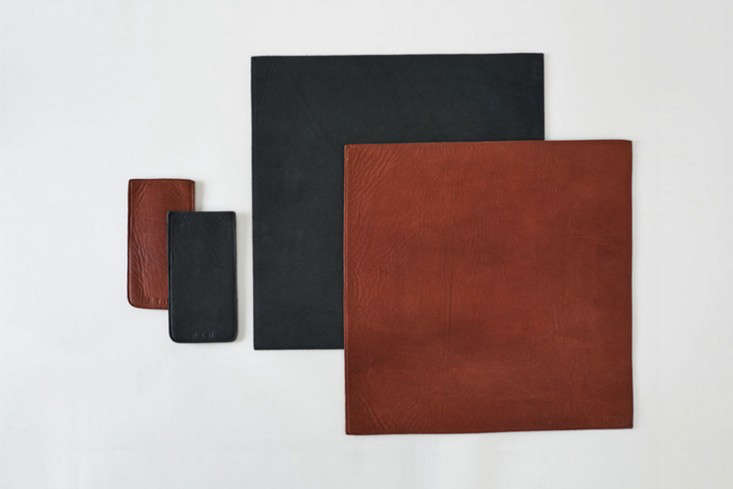 rth saddle leather placemats and silverware holders remodelista