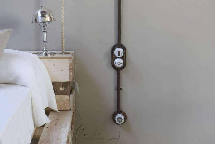 Test the electricity. (These are actually new fixtures, made to look old; seeSwitched On: Classic Light Switches.)