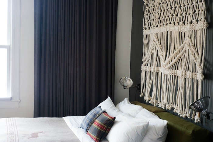 Design Sleuth Macrame Headboard from the Ace Hotels portrait 3