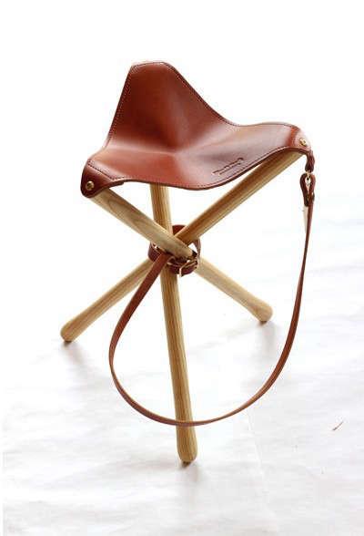 sanborn leather camp stool remodelista