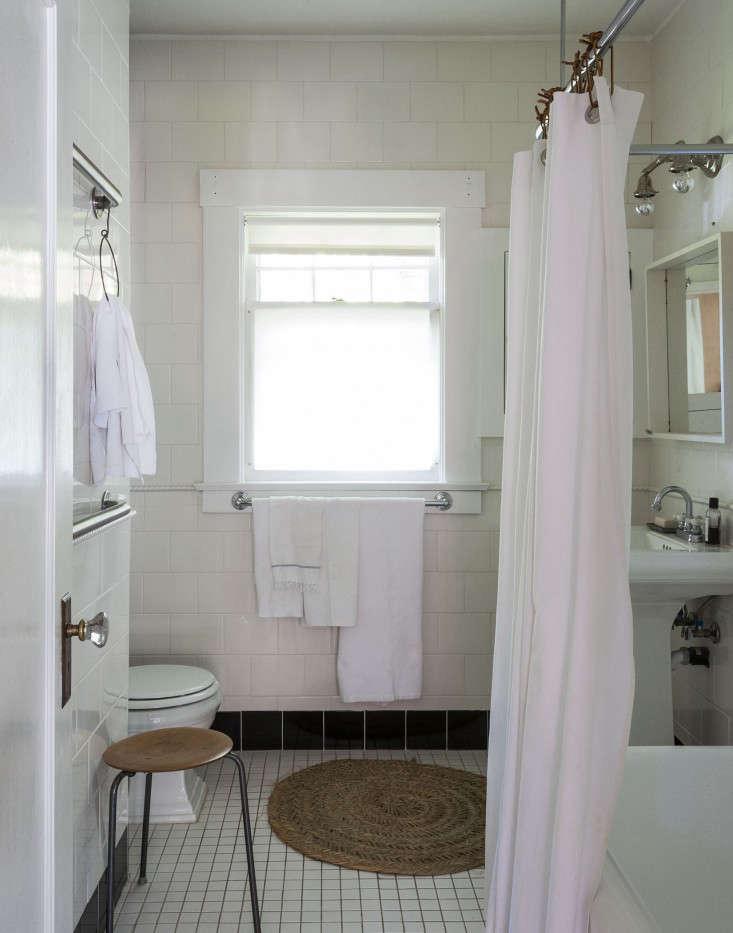 the bathroom pared down. 18