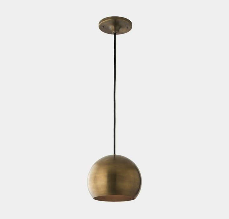 schoolhouse electric isaac 1 light natural brass remodelista