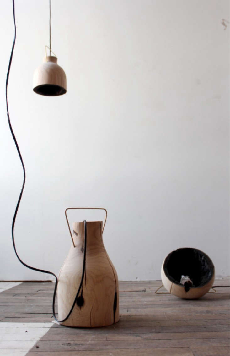 The Fire Within A Wood Pendant Light with Charred Interior portrait 4