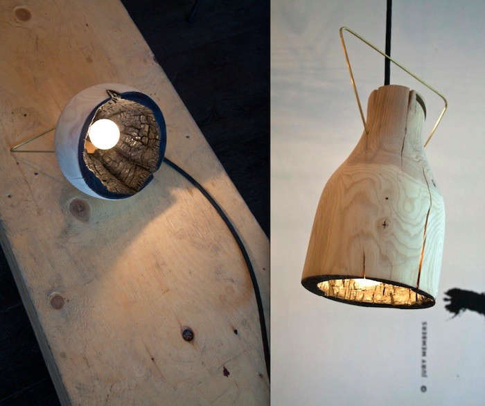The Fire Within A Wood Pendant Light with Charred Interior portrait 3