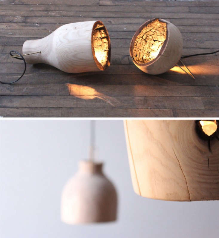 The Fire Within A Wood Pendant Light with Charred Interior portrait 5
