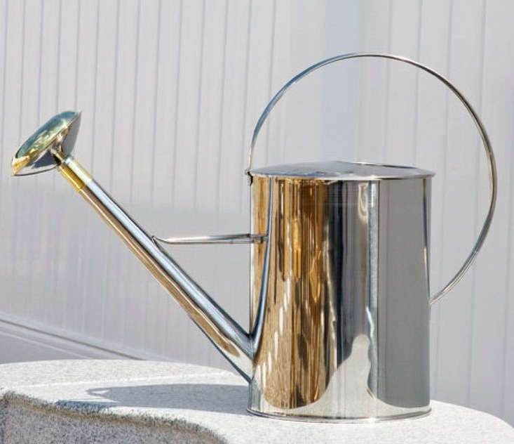 signature hardware stainless steel watering can remodelista