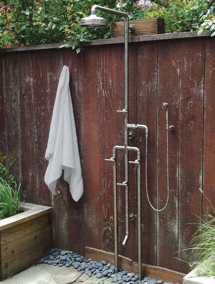 sonoma forge outdoor shower with foot shower