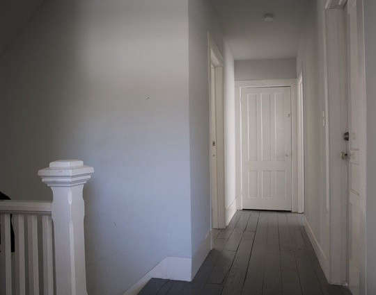 the stairwell leading to the attic bedroom. 16