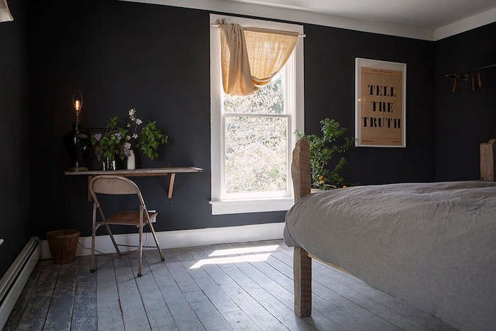 the second floor bedroom features a handmade queen size bed and north and east  9