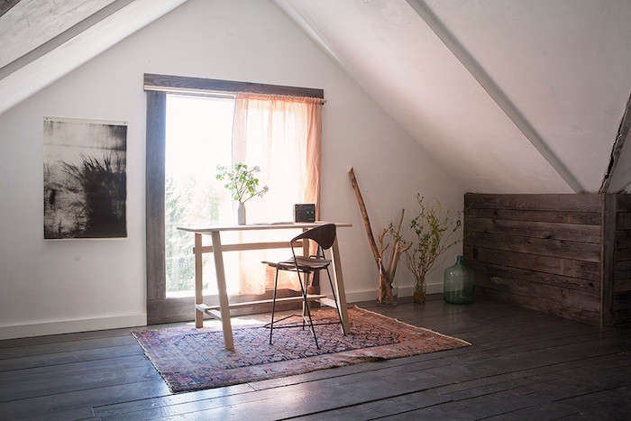 the biggest room is the entire attic floor of the building, with windows on all 18