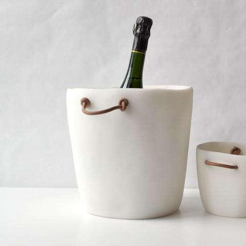 tina frey champagne bucket white