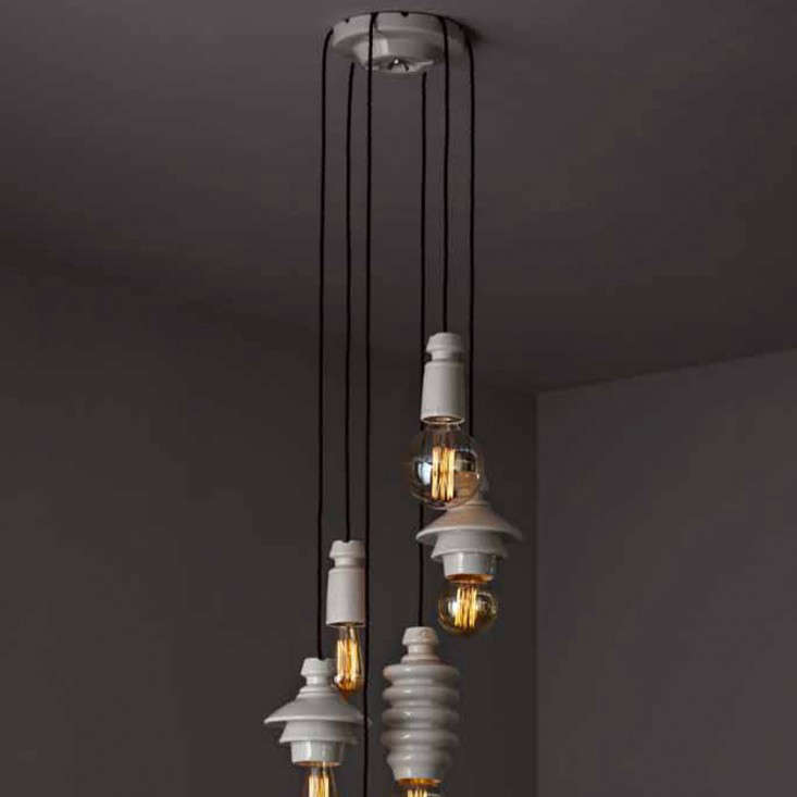 A grouping of the pendant lights.