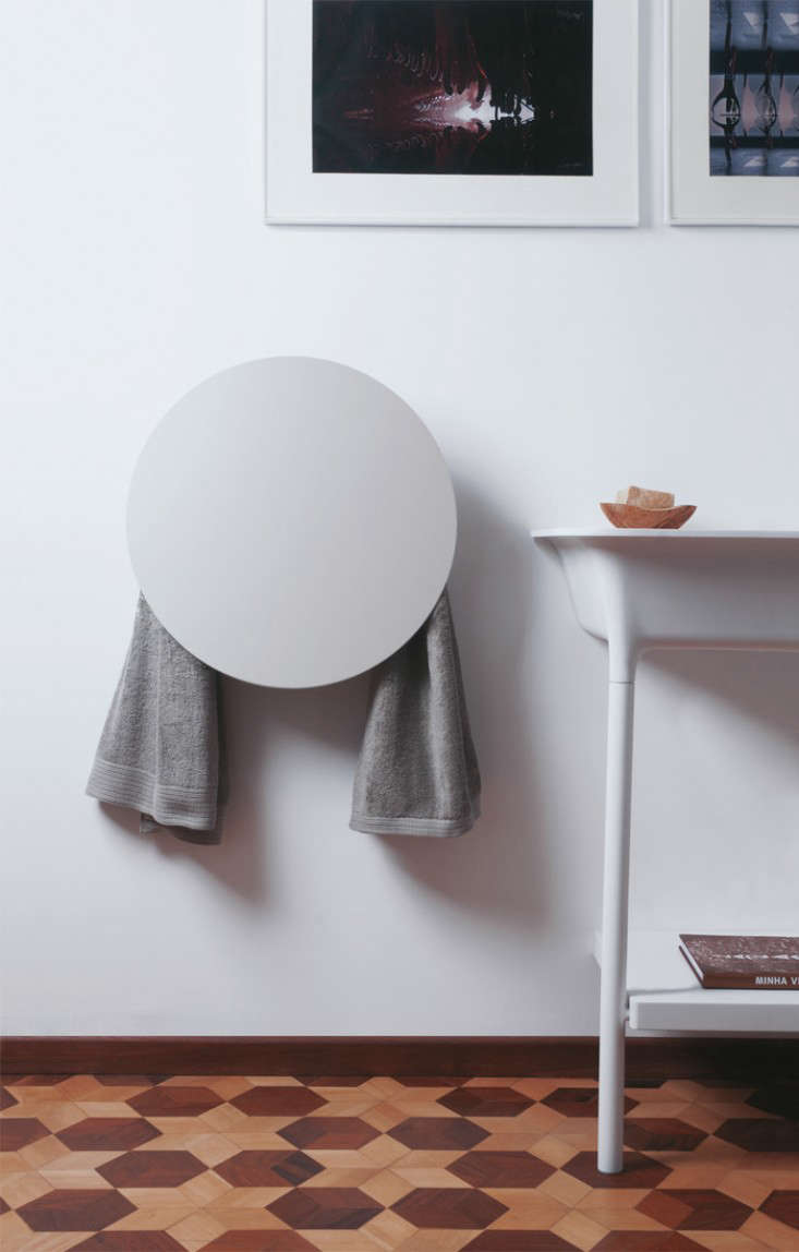 Not your typical towel warmer,available here.