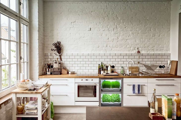 A new meaning for eat-in kitchen: The Under-Counter Herb Garden.