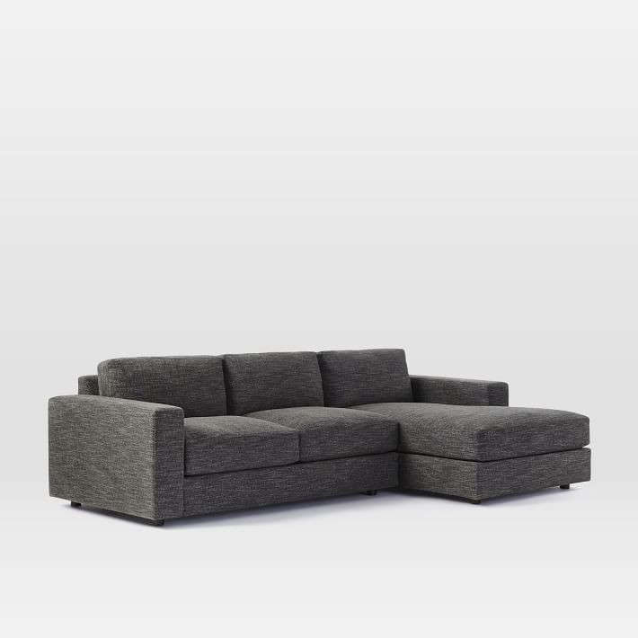 urban two piece chaise sectional remodelista 1