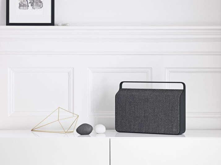 Woven sound: Dalilah has her eye on these sleek Vifa speakers from Copenhagen. Photograph Courtest of Vifa.