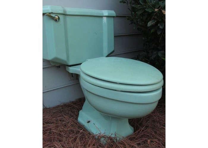 vintage seafoam green toilet ebay remodelista