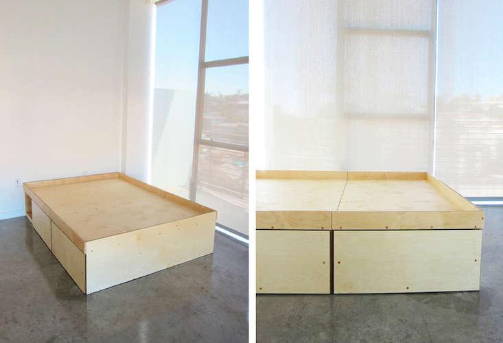 waka waka bed with four drawers remodelista