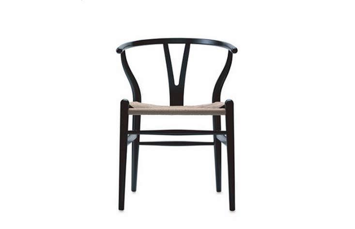 wegner wishbone chair black remodelista 1