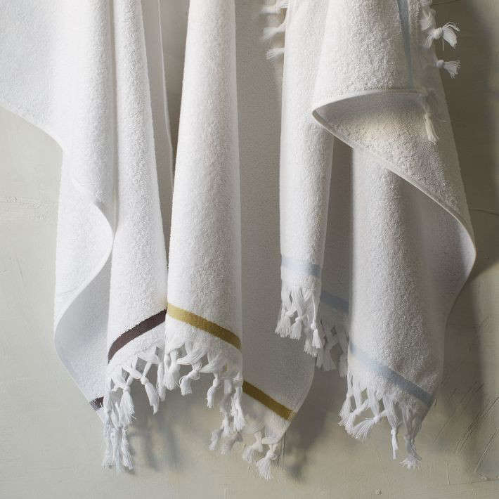 west elm fringed towels